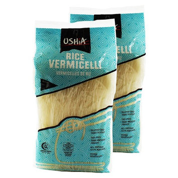 Rice Stick Vermicelli Noodles Gluten-free Fat-Free All Natural Kosher for Passover Vegan 400gram (14.1oz) - Pack of 2 - By Ushia