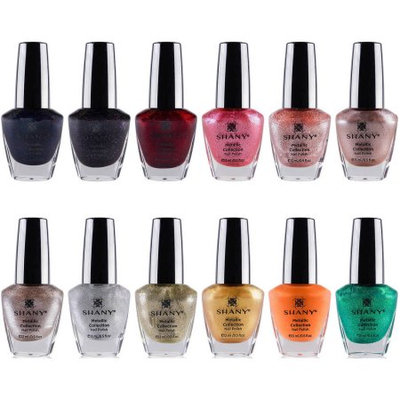 The SHANY Metallic Collection Nail Polish Set - 12 Futuristic Shades