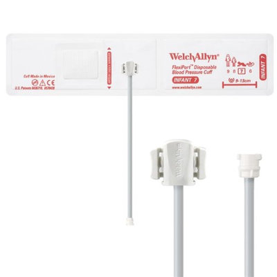 Welch Allyn WEL SOFT-07-1MQ Flexiport Blood Pressure Cuff for Locking Connector Infant - Pack of 20