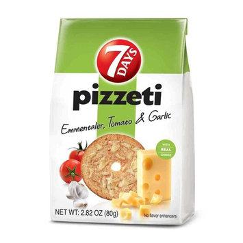 7 Days Emmentaler Garlic Tomato Pizzeti, 2. 82 Ounce - 12 per case.