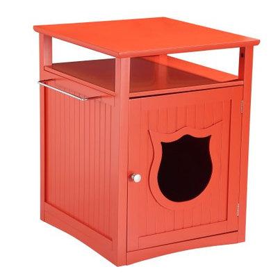 Pet Hup Hup PetHupHup Kitty Cat Thunderbox Cat Litter Box Enclosure Cherry