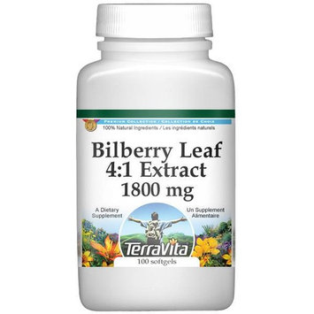 Extra Strength Bilberry Leaf 4:1 Extract - 450 mg (100 capsules, ZIN: 511245)