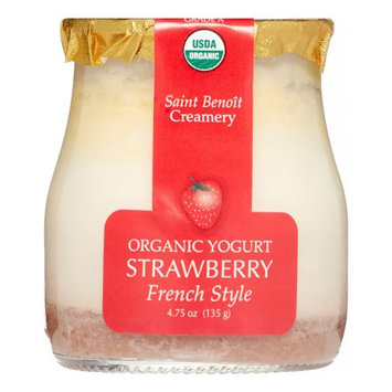 Saint Benoit Creamery Organic French Style Yogurt, Strawberry, 4.75 Oz