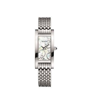 Balmain Women's Fashion Collection Silver-Tone Metal Bracelet Steel Case Quartz MOP Dial Watch B2191.33.84