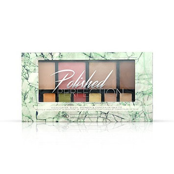 Measurable Difference Polished Perfection Highlighter/Blush/Bronzer/Concealer Palette, 0.33 Pound