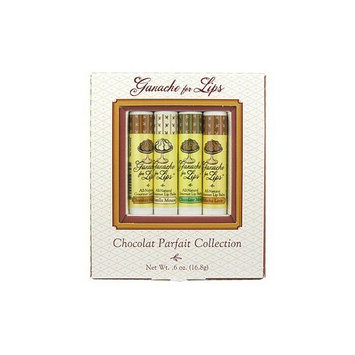 Chocolate Parfait Collection (4 x 0.15 oz) by Ganache for Lips by Ganache For Lips