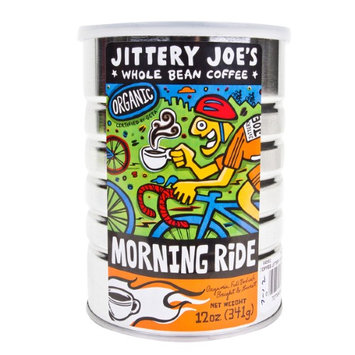 Jittery Joe's Jittery Joes Whole Bean Coffee, Morning Ride, 12 Oz
