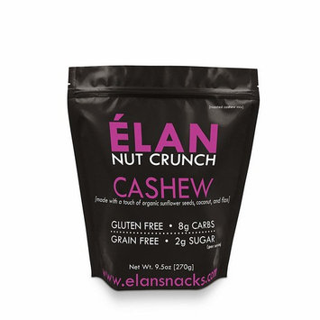 ELAN Maple Coconut Organic Cashew Nut Mix, Lightly Salted, Dry Roasted, Granola Cereal Styled Nut Snack, Paleo Low Carb Keto Friendly (9.5 Ounce Resealable Bag)