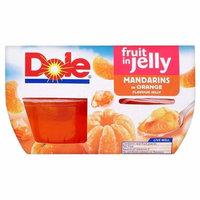 Dole Fruit Gel Bowls Mandarins in Orange Flavour Jelly (4x113g)