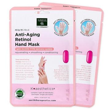Earth Therapeutics 2-Pack Anti-Aging Retinol Hand Masks
