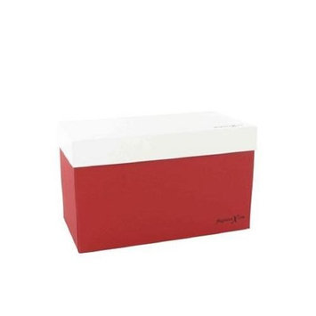 Gift Box 498025 Gift Box by Gift Box FragranceX Two Piece Maroon and White Gift Box 8 x 4 x 4.75