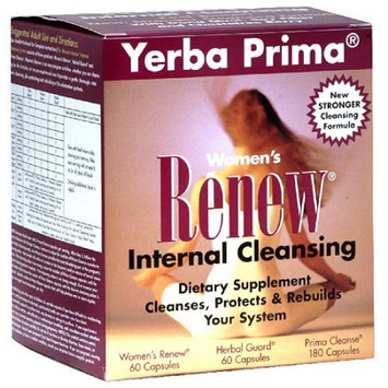 Yerba Prima Women's Renew Internal Cleansing Dietary Supplement Capsules, 300 count
