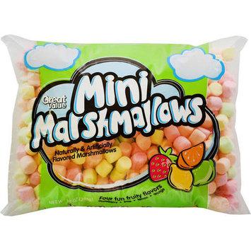 Great Value Mini Marshmallows, Fruit Flavored, 10 oz