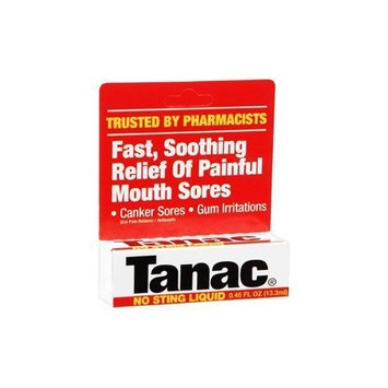 Tanac Fast Sooting Relief of Painful Mouth Sores Liquid - 0.45 Oz (Pack of 3)