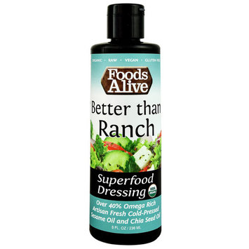 Foods Alive Organic Superfood Dressing Better than Ranch -- 8 fl oz