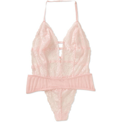 Women's and Women's Plus Bridal Collection Lace Teddy Sleep Body Suit