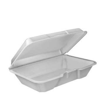 Dart 205HT1 Carryout Food Container, Foam, 1-Comp, 9 3/10 x 6 2/5 x 2 9/10 (Case of 200)