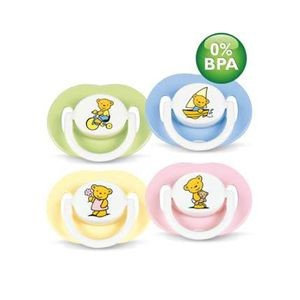 Philips AVENT BPA Free Bear Pacifier, 3-6 Months - (girl colors)