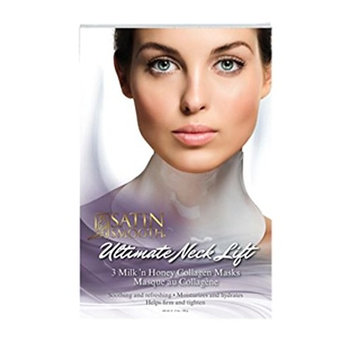 Satin Smooth Ultimate Neck Lift Collagen Mask, 3 Count