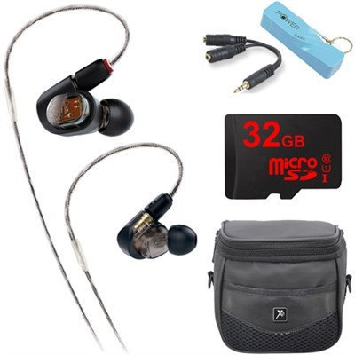 Audio-Technica ATH-E70 Professional In-Ear Monitor Headphone Portable Power Bank Bundle