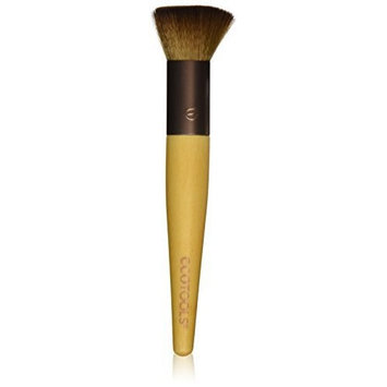 EcoTools Complexion Buffer Custom Coverage Buffing Brush, Soft, Cruelty Free, Custom Cut Bristles, Recycled Materials, for Use with Cream or Powder Foundation, Blush, and Bronzer [Complexion Buffer (Pack of 2)]