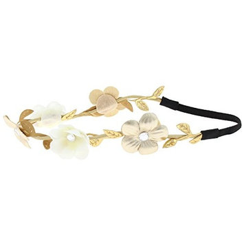 Capelli New York Girls Mixed Flowers Headwrap Ivory One Size
