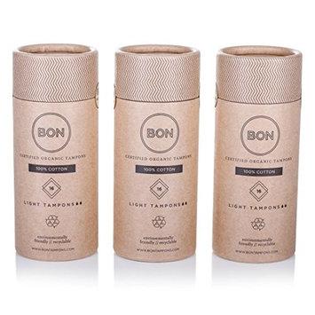 BON Certified Organic Tampons, Regular, 48 Count