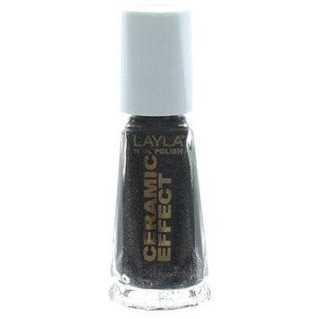 Layla Ceramic Effect Nail Polish in BLACK STAR