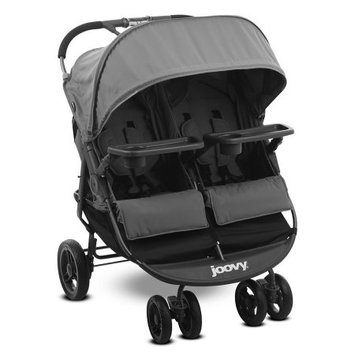 Joovy Scooter X2 Double Stroller with Snack Trays - Charcoal