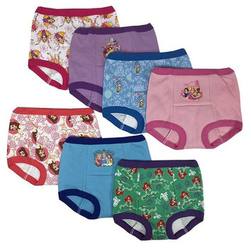 Handcraft Disney Princess Girls Potty Training Pants Panties Underwear Toddler 7-Pack Size 2T 3T 4T