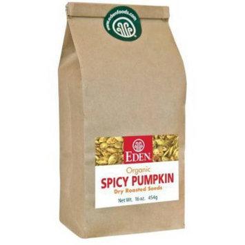 Eden Organic Eden Spicy Pumpkin Seeds, Organic, 1 Pounds (Pack of 2)