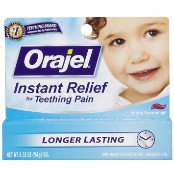 Orajel Baby, Child & Toddler Teething Pain Medicine, Gel, Cherry Flavor 0.33 Oz / 9.4 G (Pack of 2)