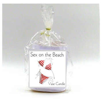 Sex on the Beach Vase Candle Refill 50 Hour Burn Time Premium Soy Paraffin Wax Blend Highly Scented Self-Trimming Wick