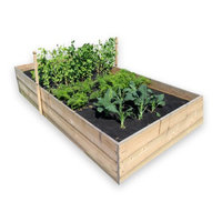 Seedsheet 48 in. x 96 in. Raised Bed Essential Vegetable Garden Kit with Lettuce, Beans, Peas, Carrots, and Kale