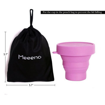 Collapsible Silicone Cup for Menstrual Cup Sterilizing, Reusable Food-Grade Silicone Cup for Camping Hiking Traveling