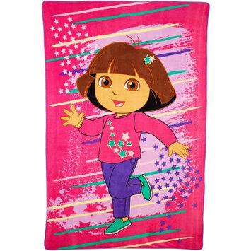 Franco Manufacturing Dora the Explorer Top Explorer Micro Raschel Blanket
