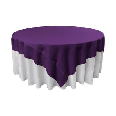 LA Linen TCpop90x90-PurpleP23 Polyester Poplin Square Tablecloth Purple - 90 x 90 in.