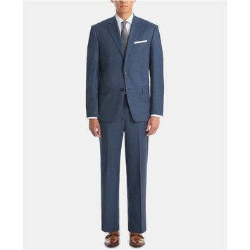 Men's UltraFlex Classic-Fit Blue Sharkskin Wool Suit Separates