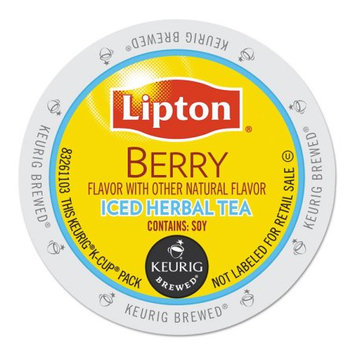Gmcr Lipton Berry Iced Herbal Tea, K-Cup Portion Pack for Keurig Brewers (24 Count)