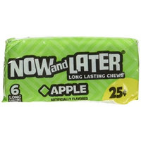 Now and Later Long Lasting Fruit Chews, Apple, 0.93 Oz (Innerpack of 24) (Pack of 24)
