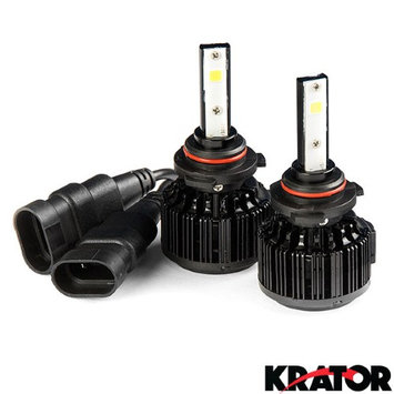 Krator LED 9005 Headlight Conversion Bulbs 40W 4000LM Light Bulb XtraBright 6000K White with Built-In Turbo Cooling Fan for 2016 Honda Pilot With LED