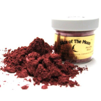 Slice of the Moon: Flashing Wine Red Mica Powder 1oz, Cosmetic Mica, Soap Making, Candle Making,Resin Dye, Lip Balm, Eye Liner Mica