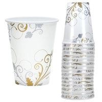 Hanna K Signature 2184998 Bella Vite Shimmer 12 oz Paper Cup - Pack of 24 & 16 per Pack