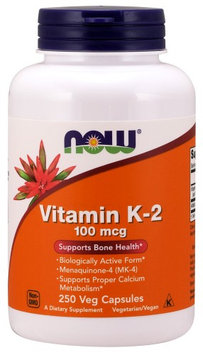 Vitamin K-2 100 mcg Now Foods 250 VCaps