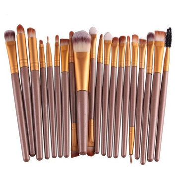 CoKate 20pcs/Set Brushes Pro Powder Foundation Eyeshadow Eyeliner Lip Brush Tool Set