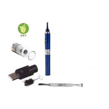 Zebra Smoke Z-Star Dry Herb Vape Pen E-Cigarette Electronic Cigarette Vaporizer For Dry Herbs 650 mah Battery Vaporizer Pen Kit (Blue)