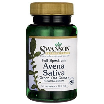 Swanson Avena Sativa Green Oat Grass Nervous System Health Support Herbal Supplement 400 mg 60 Capsules [1]