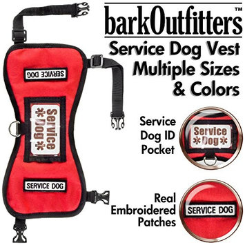 barkOutfitters Service Dog Vest Harness - Available in 4 Colors and 5 Sizes []