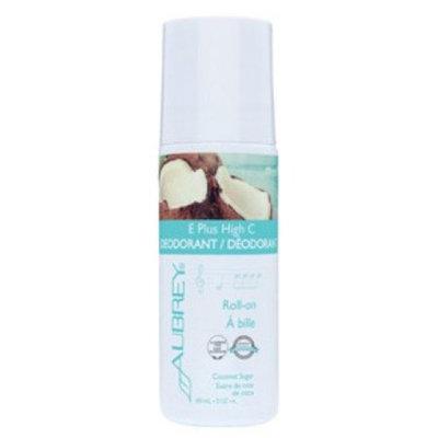 E Plus High C Deodorant Coconut Sugar Scent Aubrey Organics 3 oz Bottle