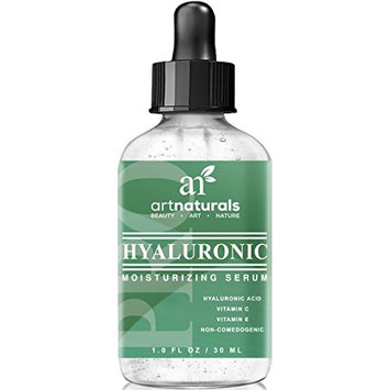ArtNaturals Anti-Aging Hyaluronic Acid Serum - (1 Fl Oz/30ml) - for Face Clinical Strength with Vitamin C Serum, Vitamin E and Green Tea – Helps Reduce Wrinkles for Youthful and Radiant Skin - 1 oz.